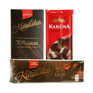 Šokoladui KARŪNA, 90–240 g (4 rūšys)