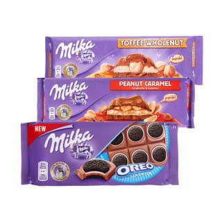 Šokoladui MILKA, 92–300 g
