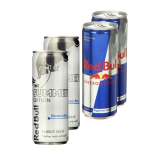 Du vienetai energinio gėrimo RED BULL, 250 ml (6 rūšys)