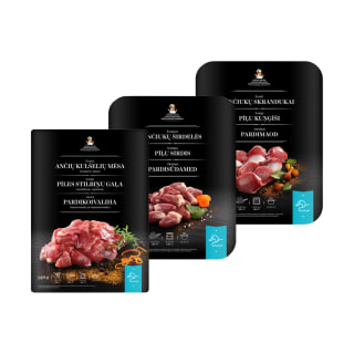 Šviežiai ančiukų mėsos produkcijai LAPINO PUOTA (6 rūšys)