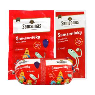 Virtai dešrai ar dešrelėms SAMSONAS SAMSONIUKŲ, 175–300 g (3 rūšys)