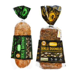Duonai SĖKLŲ, 280–400 g (5 rūšys)