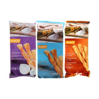 Sūrios lazdelės RIMI, 125 g (4 rūšys)