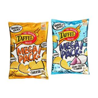 Bulvių traškučiai TAFFEL MEGA PACK, 280 g (2 rūšys)