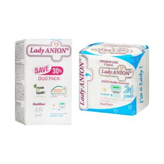Higieniniams paketams ar įklotams LADY ANION