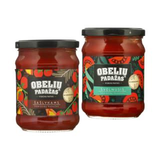 Pomidorų padažas OBELIŲ, 500 g (3 rūšys)