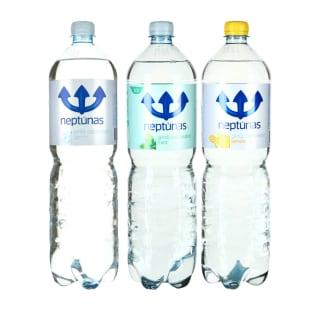 Švelniai gazuotas mineralinis  vanduo NEPTŪNAS, 1,5 l (3 rūšys)