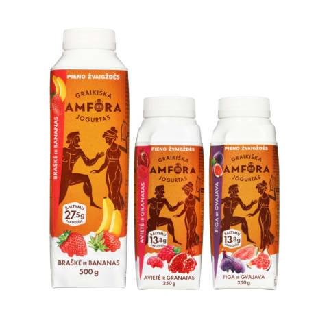 Graikiškiems jogurtams GRAIKIŠKA AMFORA, 250 - 500 g (10 rūšių)