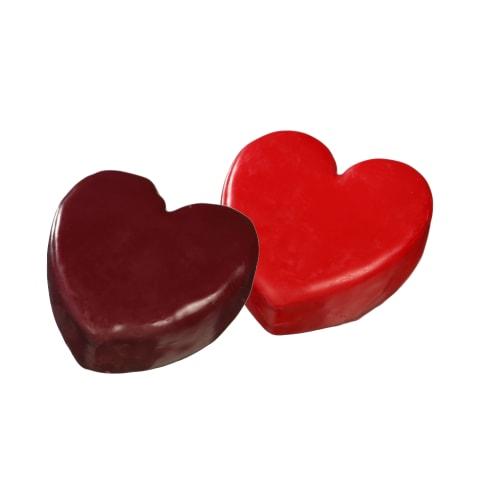 Širdelės formos čederio sūris varškinaime apvalkale, 150 g (2 rūšys)