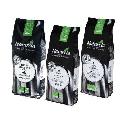 Ekologiškai maltai kavai ar kavos pupelėms NATURELA, 0,25 - 1 kg (4 rūšys)