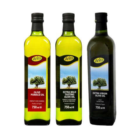 Alyvuogių aliejui ANIRA, 750 ml (3 rūšys)