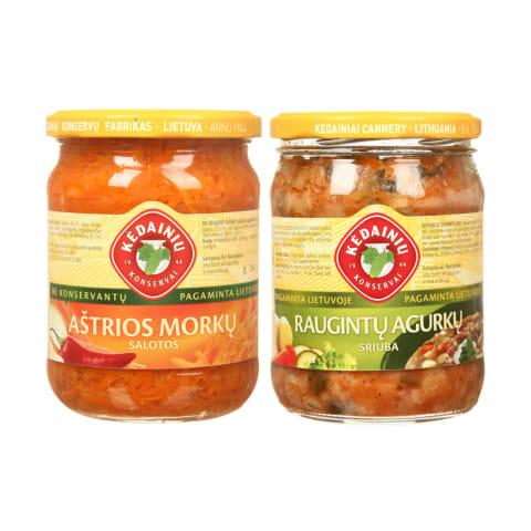 KĖDAINIŲ KONSERVŲ FABRIKO sriuboms ir salotoms, 480 g (13 rūšių)