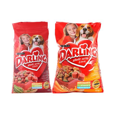 Sausam šunų ėdalui DARLING, 3 - 15 kg (5 rūšys)