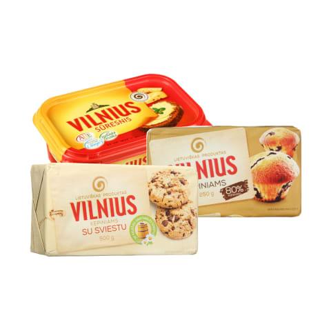 Margarinui VILNIUS, 250 - 500 g (7 rūšys)