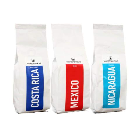 Kavai ir kavos pupelėms KAVOS BANKAS, 0,25 - 1 kg (7 rūšys)