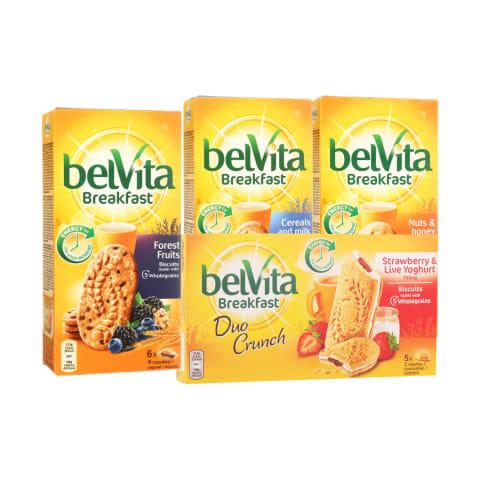 Sausainiams BELVITA, 50 - 300 g (8 rūšys)