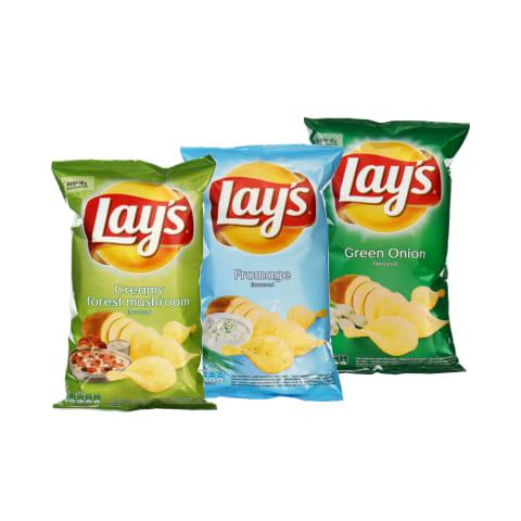Bulvių traškučiai LAY'S, 140 g (6 rūšys)