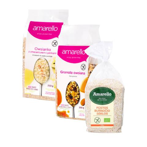 Produkcijai be glitimo AMARELLO, 80–250 g (7 rūšys)