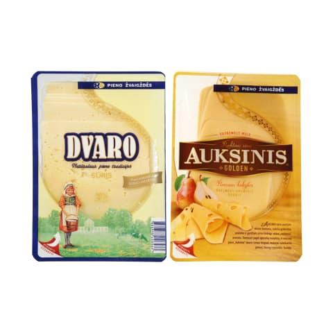 Pjaustytam sūriui PIENO ŽVAIGŽDĖS, 150 g (5 rūšys)