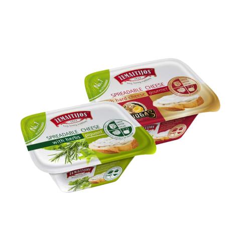 Tepamas lydytas sūris ŽEMAITIJOS, 175 g (5 rūšys)