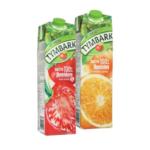 Apelsinų ar pomidorų sultims TYMBARK, 1 l (2 rūšys)