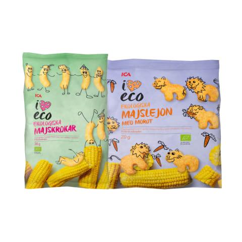 Ekologiški kukurūzai ICA I LOVE ECO, 20–30 g (3 rūšys)