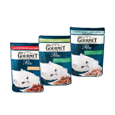 Konservuotas kačių ėdalas GOURMET, 85 g (6 rūšys)