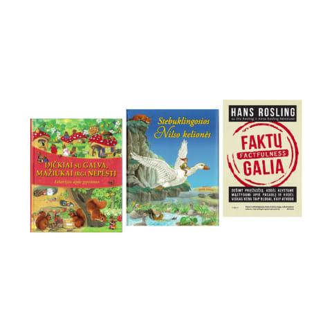 Leidyklų AKTĖJA, TYTO ALBA, TRYS NYKŠTUKAI knygoms ir spalvinimo knygelėms
