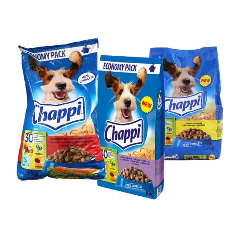 Sausam šunų ėdalui CHAPPI, 0,5–9 kg (6 rūšys)