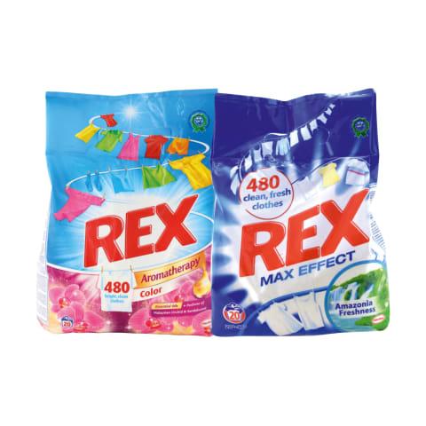 Skalbimo milteliams ar geliui REX, 20 skalbimų (5 rūšys)