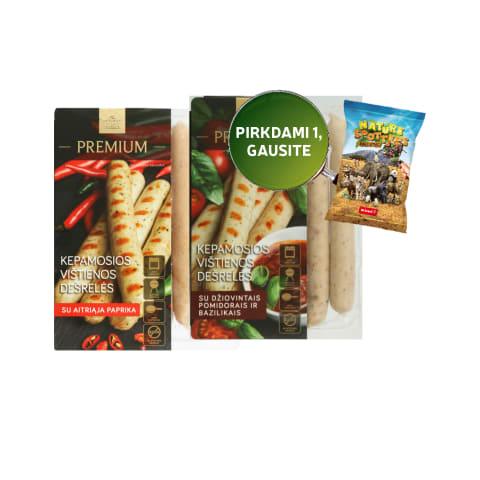 Virtos kepamosios vištienos dešrelės PREMIUM, 270 g (3 rūšys)