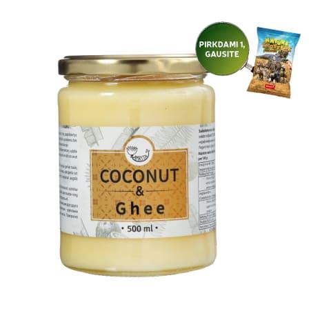Kokosų aliejus su GHI sviestu AMRITA, 500 ml