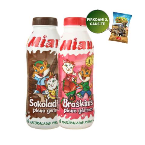 Pieno gėrimams MIAU, 450 ml (4 rūšys)