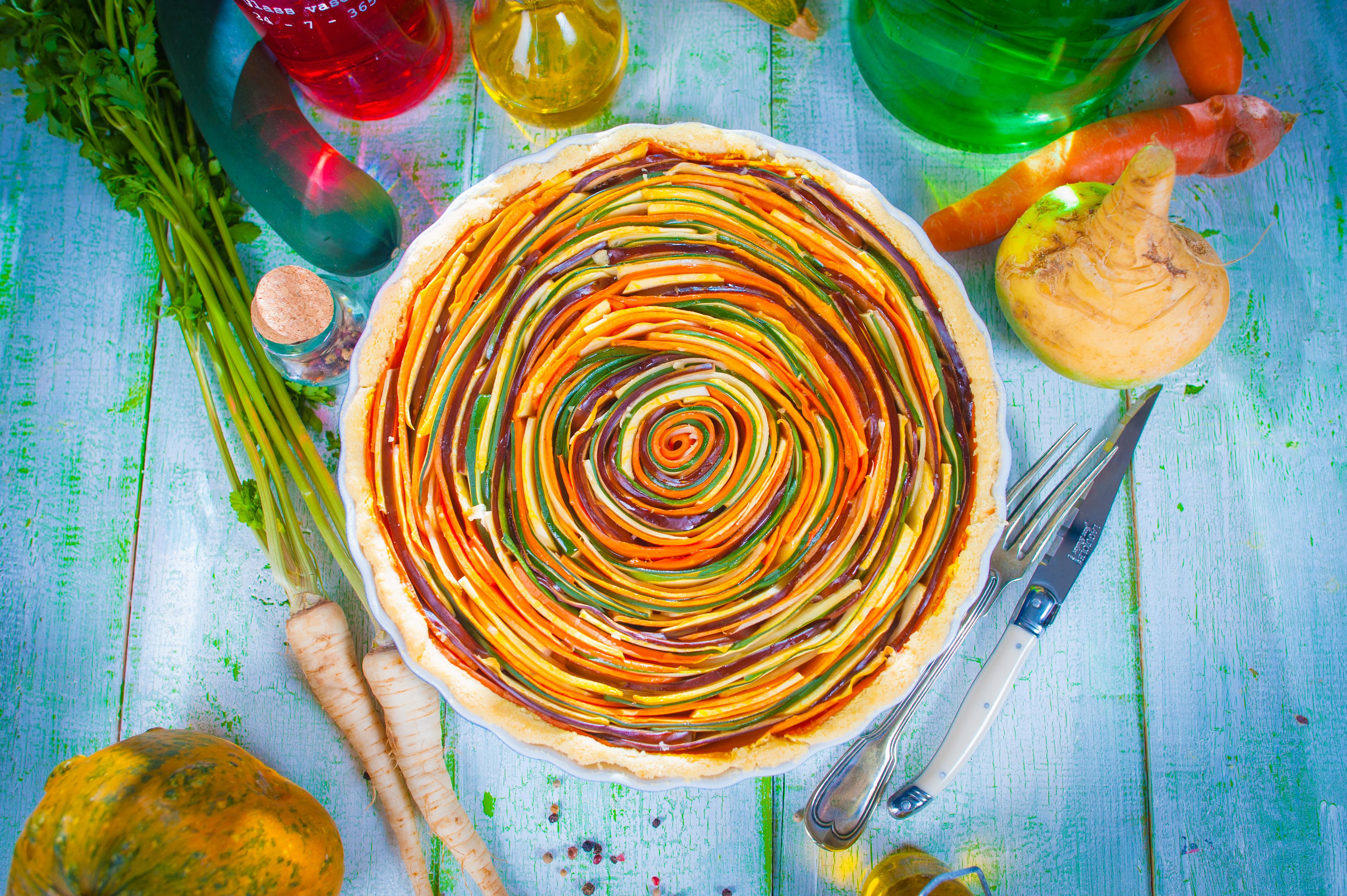 varavīksnes pīrāgs recepte