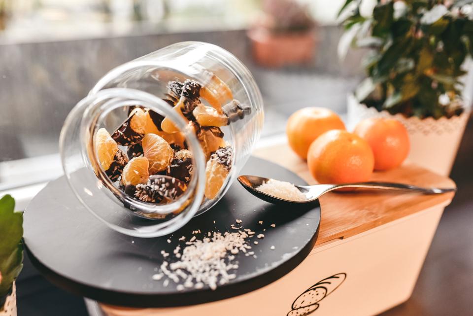 mandarīni šokolādē