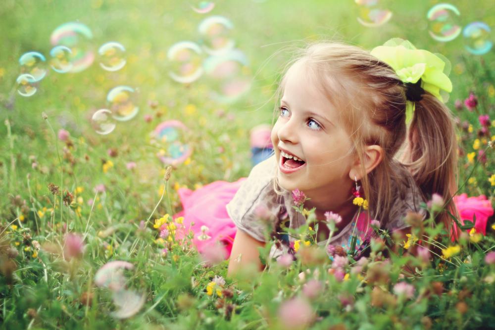 laimīgs bērns