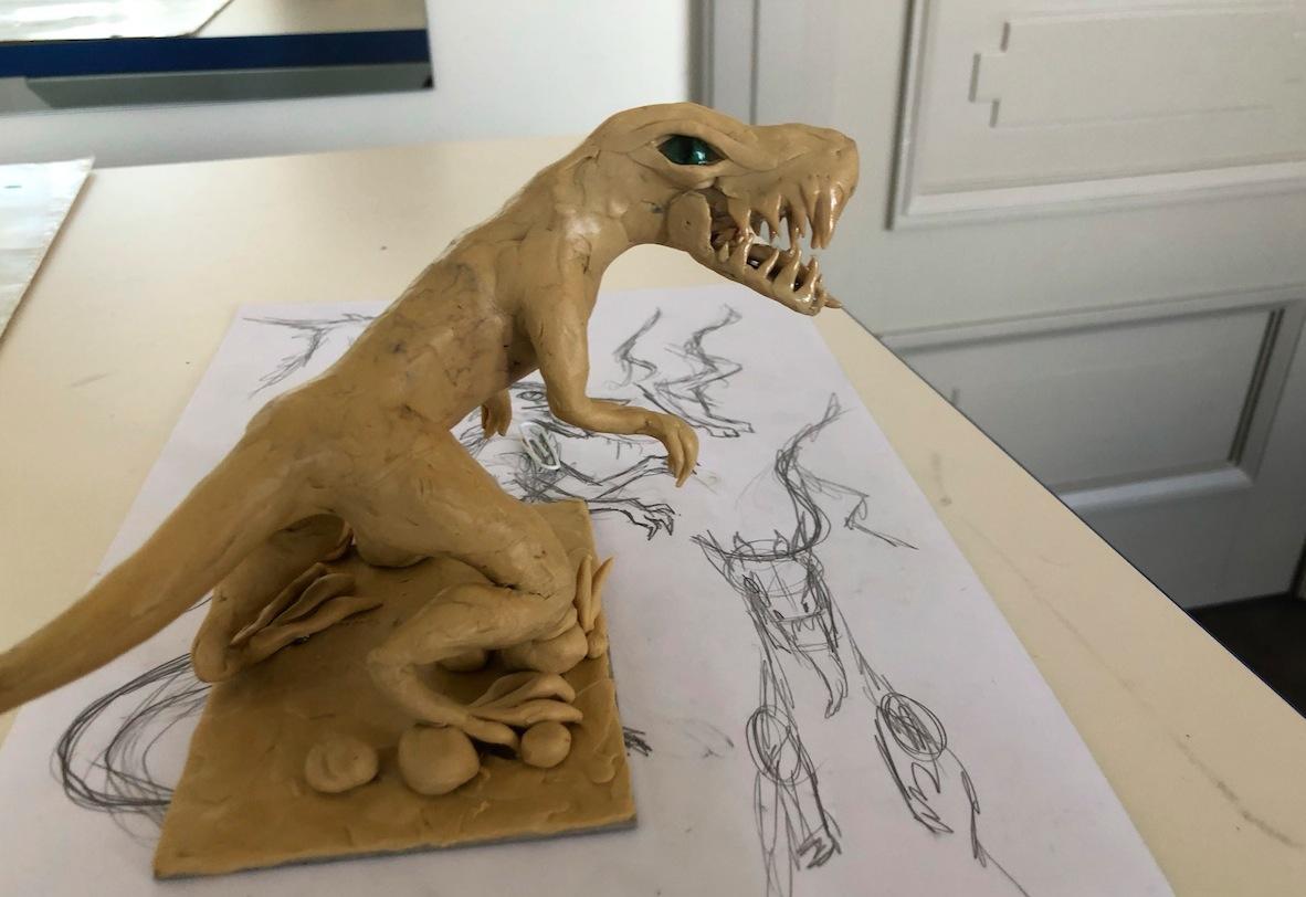 plastilīna dinozaurs